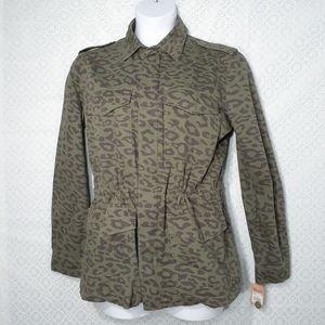 Mudd Animal Print Army Jacket